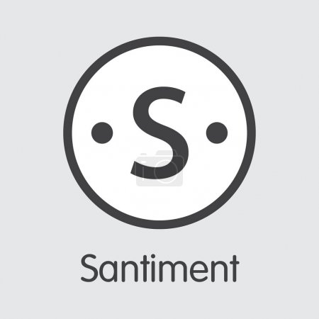 Santiment - Digital Currency Graphic Symbol.