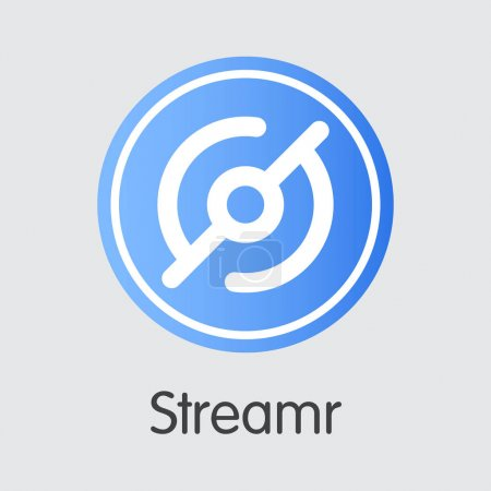 Streamr - Cryptographic Currency Pictogram.