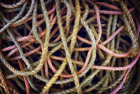 worn fishing ropes