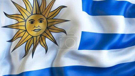 Photo pour Renonciation drapeau de l'Uruguay - image libre de droit