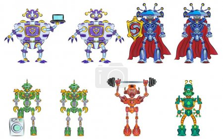 Robots Transformers Strong Multicolored Funny Helpers