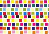 Festive vector seamless pattern with colorful squares
