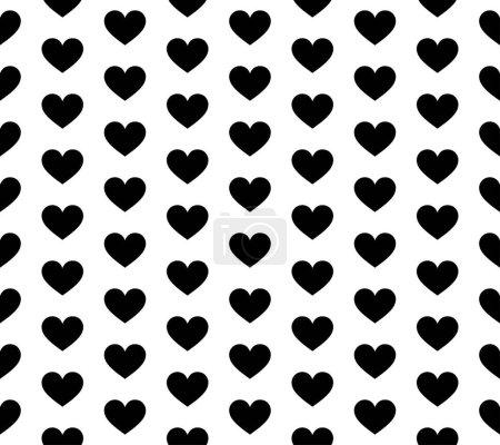 Foto de Vector seamless texture. White background and black hearts. - Imagen libre de derechos