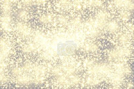 Illustration pour Contexte abstrait. Rayons dorés de lumière avec de la poussière magique lumineuse. Briller dans le noir. Particules volantes de lumière. Illustration vectorielle. - image libre de droit