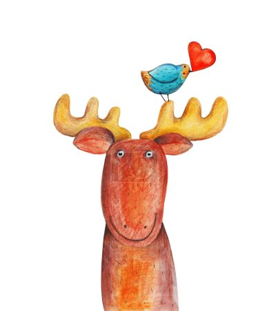 funny hand-drawn deer
