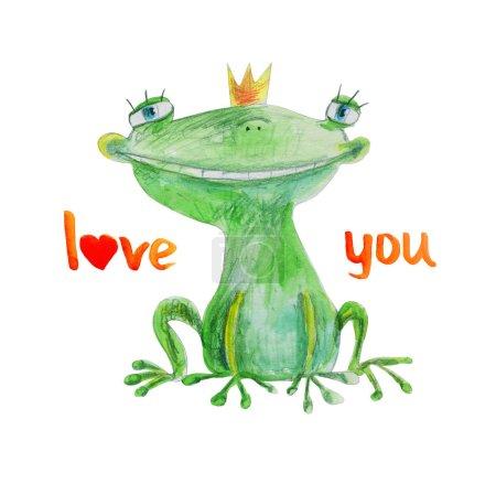 cute happy frog