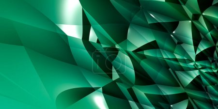 Photo for Abstract background, geometric polygonal 3D illustration,  3D rendering - Royalty Free Image