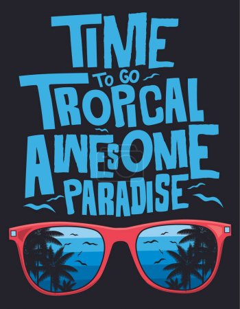tropical style typography