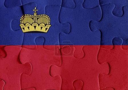 Liechtenstein flag puzzle