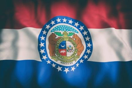 3d rendering of a Missouri State flag....