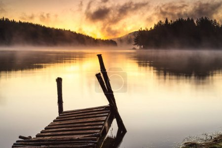 Calm lake in an early morning in the mountain...
