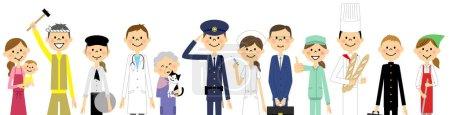 Illustration pour Illustration populaire dans la ville . - image libre de droit
