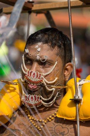 Georgetown, Penang, Malaysia - February 9, 2017 : Hindu devotee