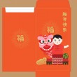 Постер, плакат: Celebration of Chinese New Year red packet China kids performing lion dance Chinese new year 2017 Translation: wishing you prosperity happy new year and chicken & fortune in english