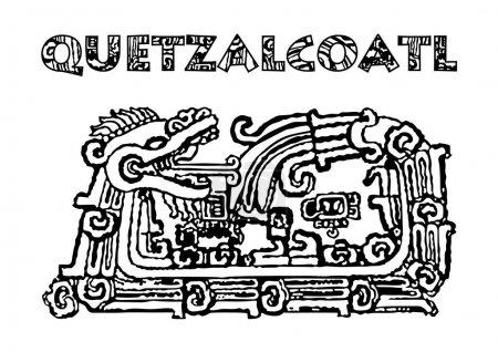 Quetzalcoatl isolated on white
