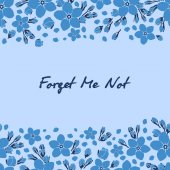 Forget Me Not seamless texture
