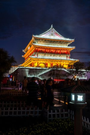 Xian bell tower in China