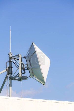satellite and radio transmitter