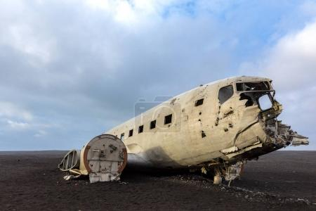 wreck of military plane