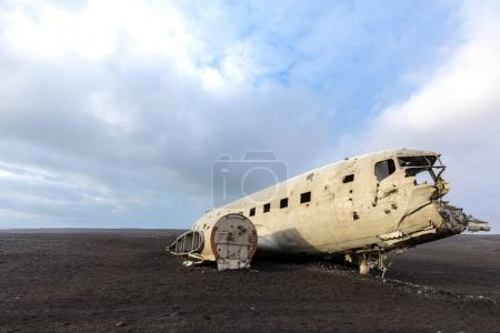 abandoned wreck of military plane