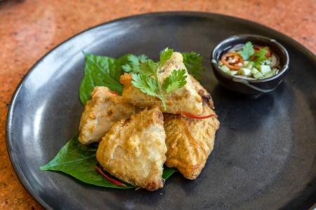 Fried taro stuff with pork