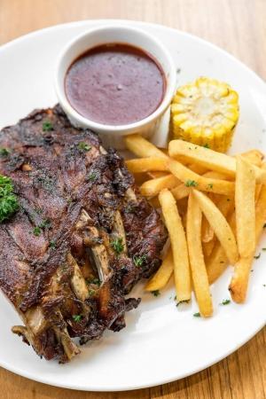 Grilled Barbecued Pork