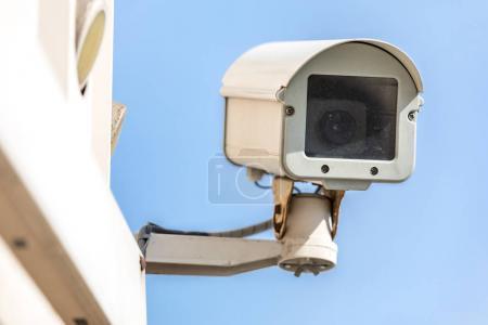 Security Camera CCTV with sky