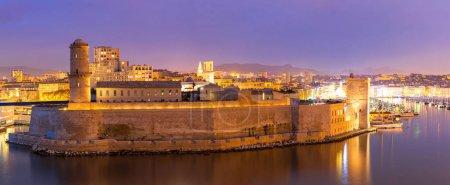 Photo pour Marseille Saint Jean Castle et la cathédrale de la Major en France - image libre de droit