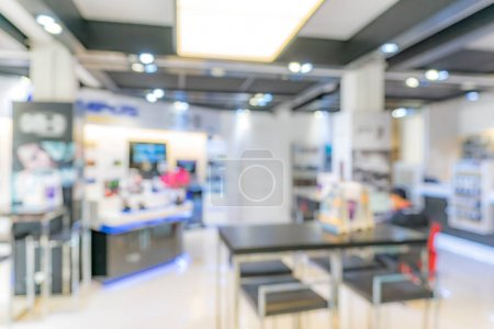 Photo for Abstrast Blurred background of shop in shopping mall - Royalty Free Image