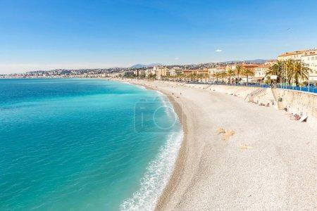 Riviera with mediterranean beach