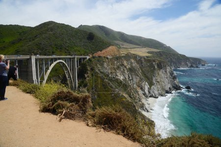 Bixby bridge along california coast