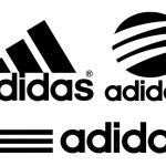 Постер, плакат: Collection of Adidas logos