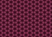 Decorative pink abstract pattern on black background