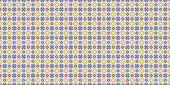 Seamless pattern on white background. Has the shape of a wave. Consists of geometric elements. In color. Useful as design element for texture, pattern and artistic compositions.