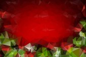 Red and Green  Christmas Polygonal Mosaic Background, Creative D