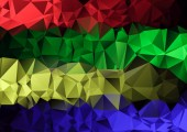Polygonal  multicolored triangle geometric abstract background