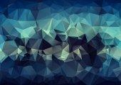 Luxury Blue  polygonal background. Triangular design