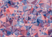 Geometric abstract background of colored transparent triangles.