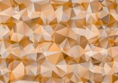 Orange polygonal illustration. Geometric background. Triangular