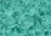Turquoise polygonal illustration. Geometric background. Triangul