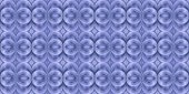 Blue and white rendering of three dimensional endless spatial me