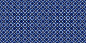 Abstract seamless pattern of diagonal blue and white rays on bla