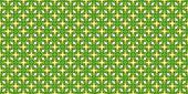 abstract green kaleidoscope seamless pattern with orange tribal