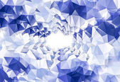 Deep Blue bright background for Christmas cards. crystals polygo