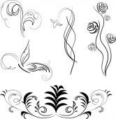 Black patterns isolated vector illustration