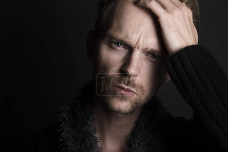 Photo for Man looking frustrated and tired - Royalty Free Image
