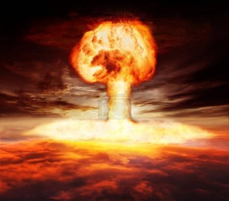 Atomic bomb explosion mushroom
