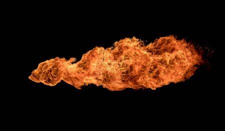 Feu flammes textures sur fond noir