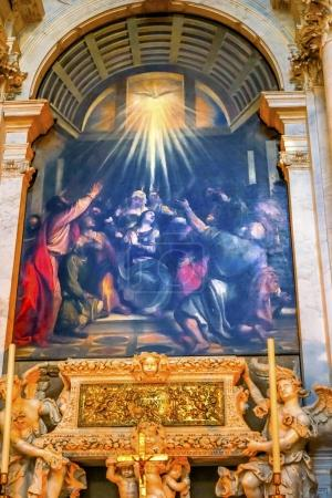 Titian Descent Holy Ghost Santa Maria Salute Church Venice Italy