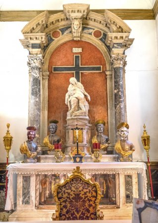Santa Maria Giglio Zobenigo Church Pieta Statue Basilica Venice Italy